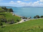Whites Bay: View of beach-front holiday house Waiheke